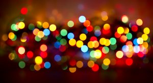 Defocused colored christmas day background.
